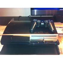 Playstation 3 80gb 16 Jogos+2controles+volante Brinde -