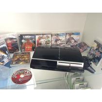 Playstation 3 + 10 Jogos Originais + Hdmi Super Oferta!!!!!