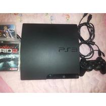 Playstation 3 Slim Hd 160 220 V Com 2 Jogos E Completo Na Cx
