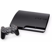 Ps3 Slim 160 Gb + 6 Jogos Originais + 2x Controles Sem Fio!!