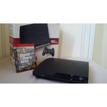 Playstation 3 160 Gb, Semi-novo Mais Gta 4 E Cabo Hdmi