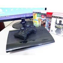 Ps3 Playstation 3 + Controle + Jogos Frete Grátis