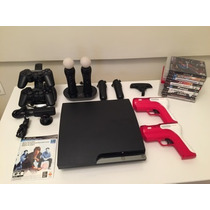 Videogame Playstation Ps3 Hd320 Gb+controles+kit Move+...