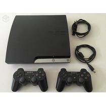 Playstation 3 320gb Bloqueado 2 Controle 5 Jogos Fifa16 Gta5
