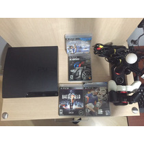 Playstation 320 Gb Semi Novo - Original C 2 Controles E Mov