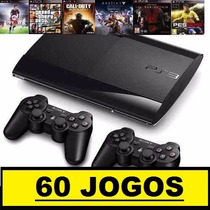 Ps3 Superslim 500 Gb+60 Jogos Originais+2 Controles+ Hdmi