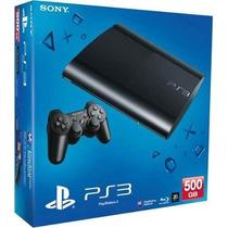 Playstation 3 Ps3 Super Slim Hd 500 Gb - Novo Na Caixa