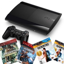 Playstation 3 Ps3 500gb Super Slim Bivolt 3d + 1 Jogo + Hdmi