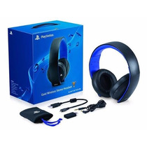 Headset Sony Gold Wireless 7.1 Stereo - Ps3, Ps4 E Ps Vita