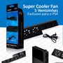 Super Cooler Fan 5 Ventoinhas Playstation 4 Exclusivo Ps4
