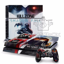 Adesivo Capa Skin Ps4 + 2 Controles - Killzone Shadow Fall