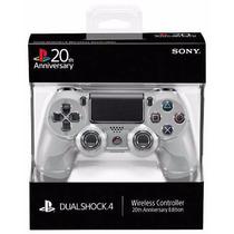 Controle Ps4 Playstation Aniversario 4 20th Anos Cinza