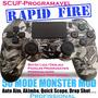 Controle Ps4 Estilo Scuf Com Mod Rapid Fire -personalizado-