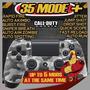 Controle Dualshock 4 Camuflado Rapid Fire Jump Shot 35 Modos