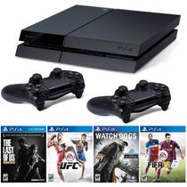 Playstation 4 Sony 500gb Ps4 + 2 Controles + 12x Sem Juros