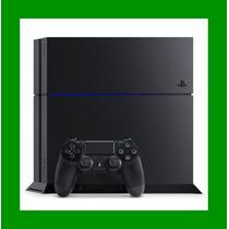 Playstation 4 500gb Ps4 Jet Black Sony + 1 Jogo De Brinde