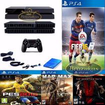 Ps4 + Hd 2tb +150 Jogos Playstation4 Destravado Desbloqueado