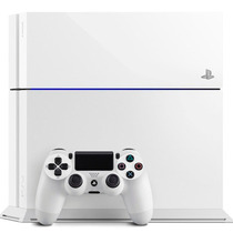 Playstation 4 Branco Ps4 500gb + Hdmi+ Blu-ray 3d + Controle