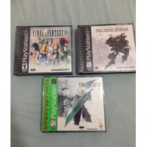 Kit 3 Caixas E Manuais Final Fantasy Psx