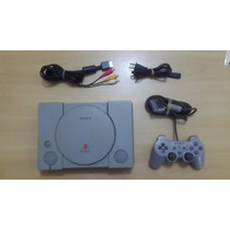 Playstation 1 Fat Scph-9001 + Controle Analógico + 5 Jogos