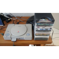 Ps1 Playstation 1 Fat 110v + Controle + Cabos + Jogos + Card