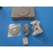 Playstation 1 Fat + 1 Controles 4 Jogos Memory