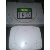 Playstation 1 Fat Ps One Tijolo Leitor Novo Controle Novo