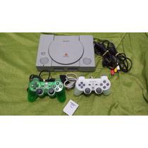 Playstation 1 Fat Scph 7001 + 10 Jogos E Memory Card 1mb