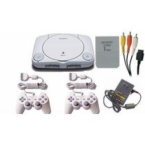 Playstation 1 + Controles + Memory Card + 5 Jogos!!
