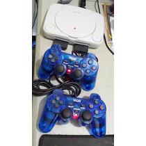 Ps1 Playstation One + 2 Controles + 5 Jogos Leia Descrição