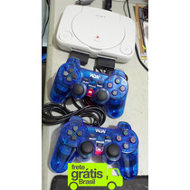 Ps1 Playstation One + 2 Controles + Memory Card + 5 Jogos
