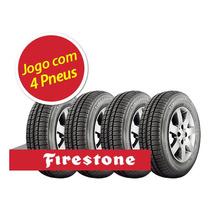 Kit Pneu Aro 13 Firestone 165/70r13 F77 78t 4 Unidades