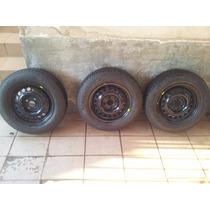 Pneu Com Roda Aro 14 Pirelli Cinturado P4 175/70 R14 82t
