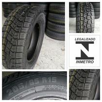 Pneu Remold Novo 205-65-15 +garantia C/selo Inmetro Barato