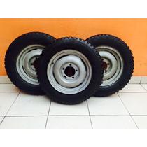 3 Rodas Completas - Jeep Willis