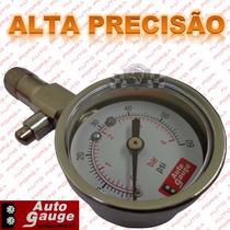Calibrador Medidor Pressão Ar Pneu Alta Precisão Auto Gauge