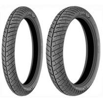 Par Pneu Titan 150 Ybr Dianteiro+traseiro Michelin City Pro
