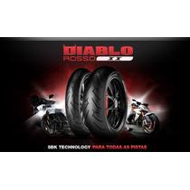 Pneu Pirelli 110/70-17 Diablo Rosso 2 P/ Cb300 Ninja300