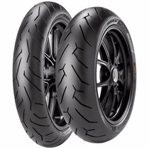 Combo Pneu Moto Pirelli Diablo Rosso 2 110/70-17 + 150/60-17