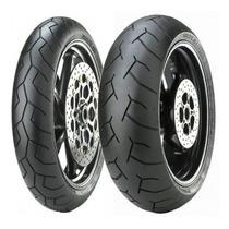 Pneu Moto Pirelli Diablo 180/55-17 E 120/70-17 Hornet/xj6