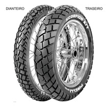 Pneu Dianteiro Pirelli 90/90 - 19 52p Tt Scorpion Mt90 A/t
