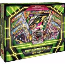 Box Pokemon Mega Rayquaza Ex Brilhante Carta Gigante