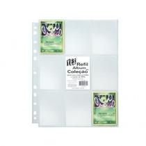 Pacote C/ 10 Folhas De Fichario P/ Cards Pokemon C/ 9 Bolsos