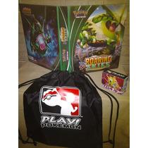 Pasta Fichário Pokemon Xy Rayquaza+mochila+55 Cards+05folhas