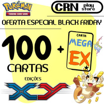 Black Friday Lote Pokémon 100 Cartas Com 1 Carta Mega Ex