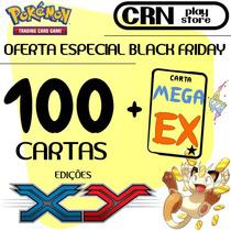 Black Friday Lote Pokémon 100 Cartas Com 1 Carta Mega Ex