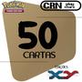 Lote 50 Cartas Pokémon X Y Com 5 Raras Sem Repetições