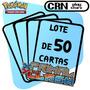 Lote 50 Cartas Pokémon Conflito Primitivo Com 5 Raras