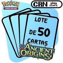 Lote 50 Cartas Pokémon Origens Ancestrais Com 5 Raras