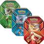 3 Latas Pokémon Hoenn Power Swampert-ex Sceptile-ex Blazike